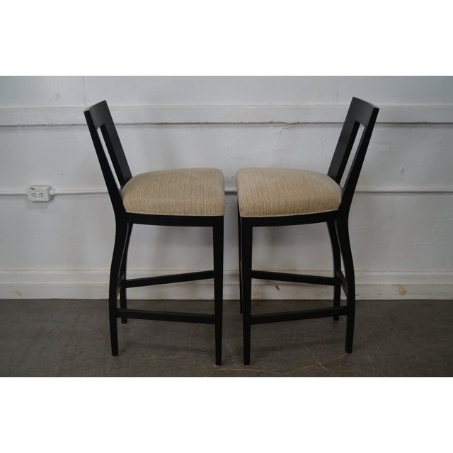 Donghia Margarita Upholstered Bar Stool Chairs- A Pair - Image 3 of 10