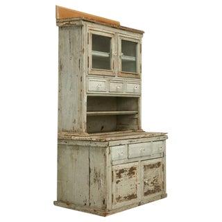 Miniature American Pine Original Paint Child's Cupboard