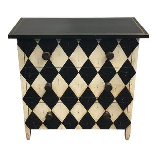 Diamond Motif 3 Drawer Dresser