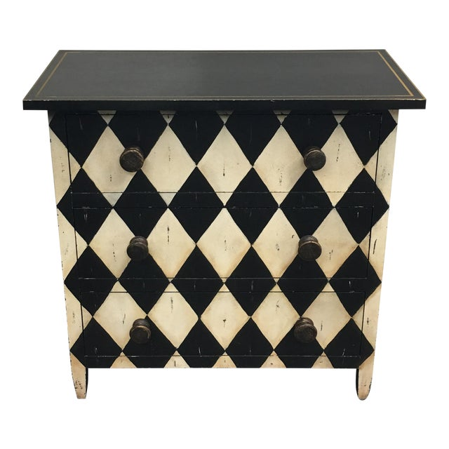 Diamond Motif 3 Drawer Dresser - Image 1 of 6