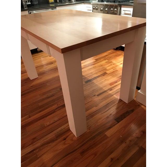 Custom Maple Island Table - Image 5 of 7