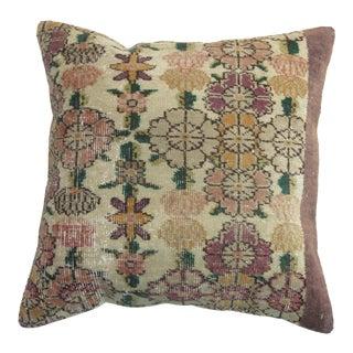 Turkish Floral Anatolian Rug Pillow