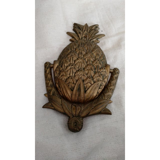 Vintage Brass Pineapple Door Knocker - Image 2 of 4