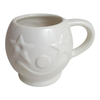Clown Face Coffee Mug With Star Eyes All White