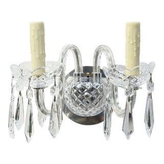Set of Four Waterford Crystal Sconces