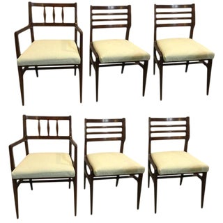 Set of Six Mid-Century Modern Rosewood Dining Chairs by R'way Furniture