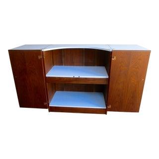 Mid-Century Modern Flip Bar Cabinet