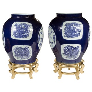 Blue & White Dragon Jars