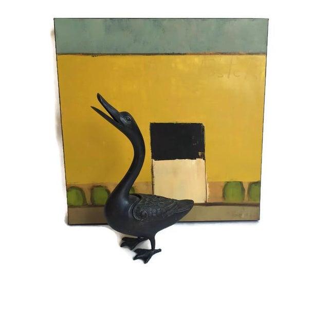 Image of Vintage Cast Iron Goose Incense Burner