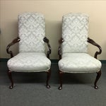 Image of Damask Hickory Chairs - Pair