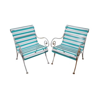 Woodard Vintage Patio Lounge Chairs - A Pair