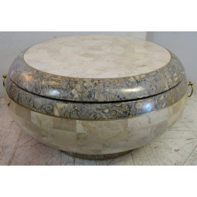 1970 Maitland-Smith Tessellated Marble Expandable Coffee Table - Image 4 of 8