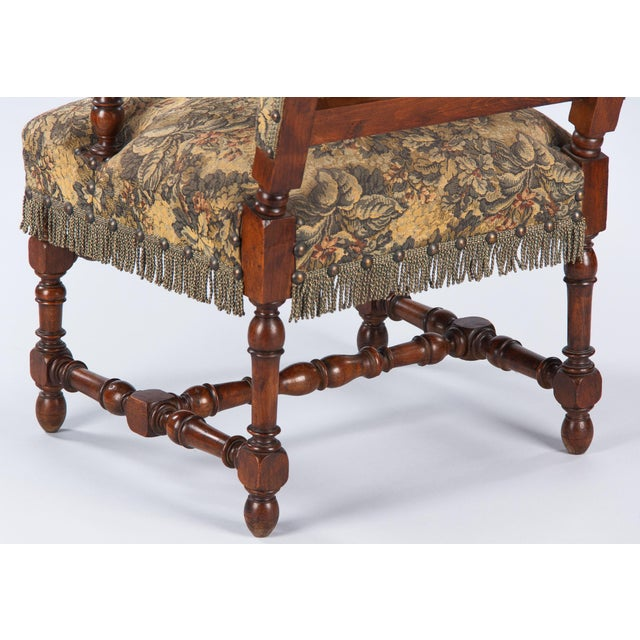 1860's French Louis XIII Style Armchairs - Pair - Image 9 of 10
