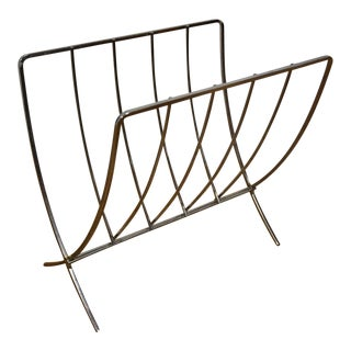 Chrome Folding Magazine Rack