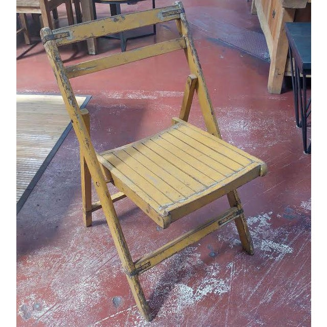 vintage wooden folding chair chairish