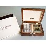 Image of Ercolano Handmade Brown Wood Inlays Card Box