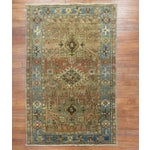 Image of Antique Persian Heriz Rug - 3 x 4'5''