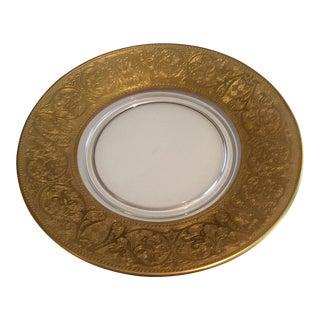 Glastonbury Georgian Gold-Lotus Encrusted Plates - A Pair