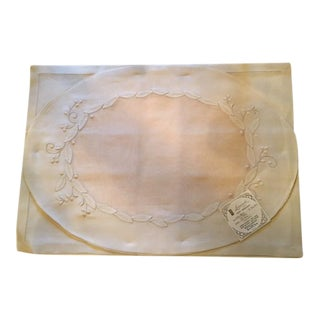 Vintage Hand Embroidered Linen Placemats & Napkins - Set of 8