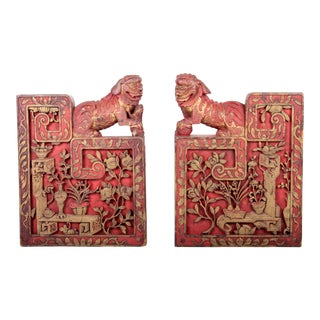 Chinese Architectural Guardian Lion Brackets - A Pair