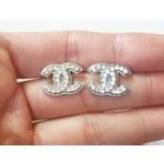 Image of Chanel Blink CC Small Pierced Earrings