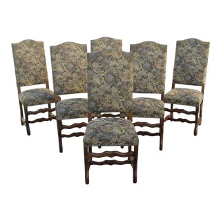 Louis XIII Style Os De Mouton Dining Chairs - Set of 6