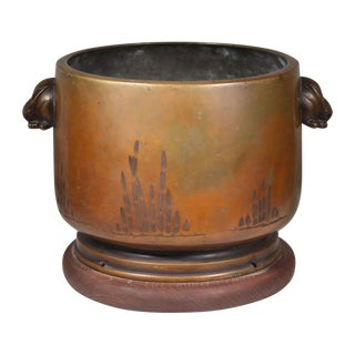 Late 19th-C. Japanese Bronze Planter