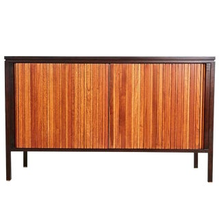 Edward Wormley Tambour Draw-Leaf Credenza