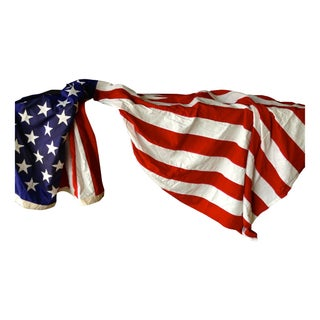 Amazing Grace Large Vintage American Flag