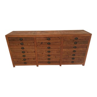 English Reclaimed Pine Printer's Chest