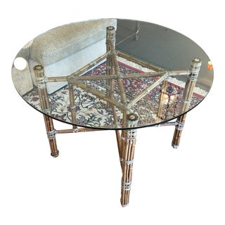 McGuire Bamboo & Glass Dining Table