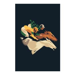 Modern Danish Poster, Fitzdares Horse Race