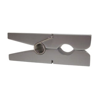 Large Silver Grey  Pop Art Modernist Clothespin