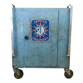 Vintage Industrial Sun Service Equipment Cart