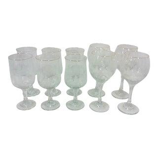 Winter Wine and Goblet Stemware-Set of Ten