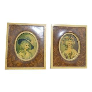 Miniature Marie Antoinette Portraits - A Pair