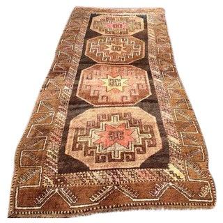 """Vintage Turkish Tribal Rug - 5'2"""" X 12'8"""""""