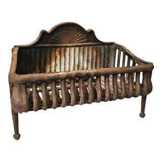 Vintage Cast Iron Fireplace Grate