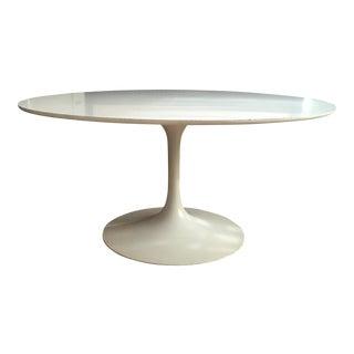 Burke 1960s White Tulip Dining Table