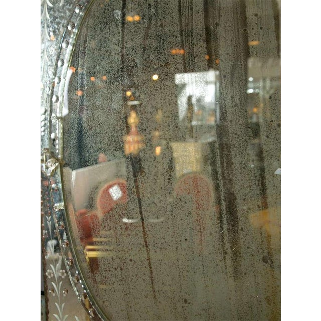 Venetian Style 1970s Etched Glass Mirrors - A Pair - Image 7 of 9