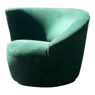 Vintage Overman Sweden Swivel Lounge Chair