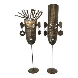 Oil Drum Masks - a Pair