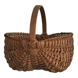 Appalachian Splint Oak Double Buttock Basket