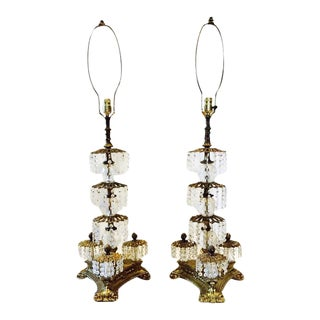 Mid-Century Prism Waterfall Lamps - A Pair