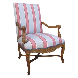 French Antique Striped Chair