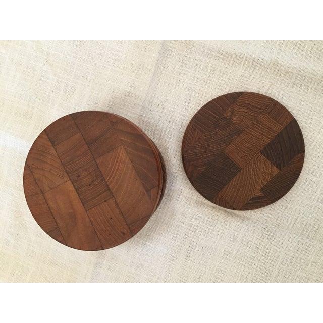 Modern Rustic Wooden Dansk Coasters Set Of 7 Chairish