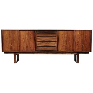 1960s Arne Vodder Danish Rosewood Credenza with Sled Legs