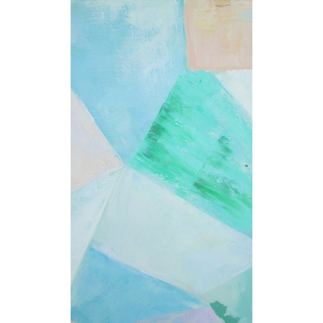 Image of Mid-Century Abstract Pastel Painting