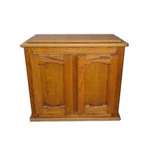 Vintage Wood Traditional Clothing Hamper
