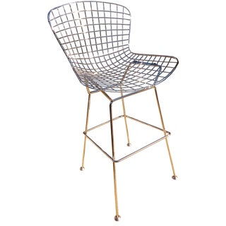 Harry Bertoia-Style Wire Counter Stool